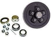 Brake hub drums for hydraulic or electric brakes.
